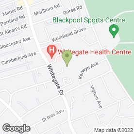 Map of Woodland Special School in Blackpool, lancashire