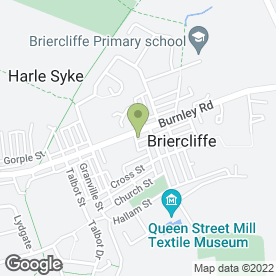 Map of Mobile Curtains Ltd in Briercliffe, Burnley, lancashire