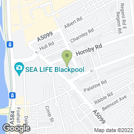 Map of PINE LODGE HOTEL in Blackpool, lancashire