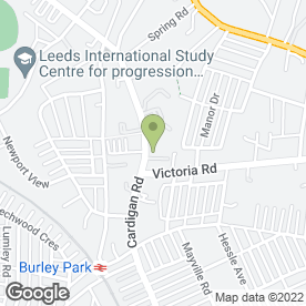 Map of Oak Villa Hotel in Leeds, west yorkshire