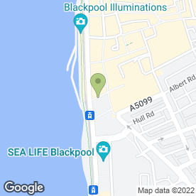 Map of Greggs in Blackpool, lancashire