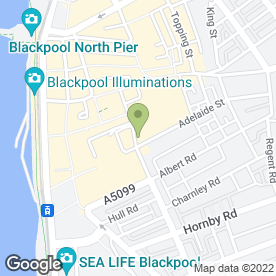 Map of Nails in Blackpool, lancashire