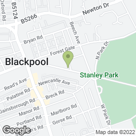 Map of Mere Road Vets in Blackpool, lancashire