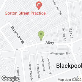 Map of Broomheads Estate Agents in Blackpool, lancashire