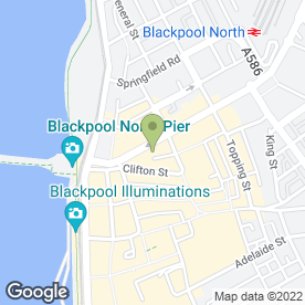 Map of NHS Walk in Centre in BLACKPOOL, lancashire