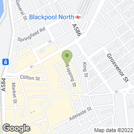 Map of Dixy Land Chicken & Ribs in Blackpool, lancashire