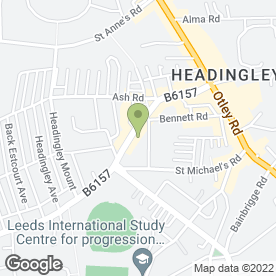 Map of Pizza Hut in Headingley, Leeds, west yorkshire