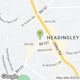 Map of Dinsdales in Headingley, Leeds, west yorkshire