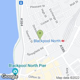 Map of Dickson Road Self Storage & Van Hire in Blackpool, lancashire