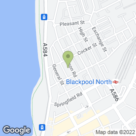 Map of The Duke of York in Blackpool, lancashire