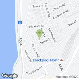 Map of The Dragonfly in Blackpool, lancashire