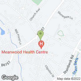 Map of Temple Holistic Fitness Centre in Leeds, west yorkshire