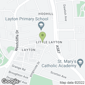 Map of Layton Funerals in Blackpool, lancashire