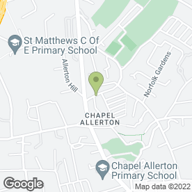 Map of Sukhothai Chapel Allerton in Chapel Allerton, west yorkshire