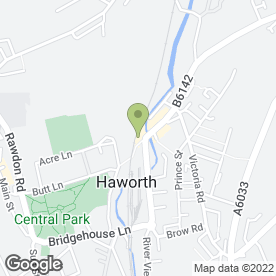 Map of Hartley & Whitaker in Haworth, Keighley, west yorkshire