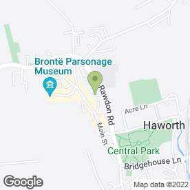 Map of Haworth Medical Practice in Haworth, Keighley, west yorkshire
