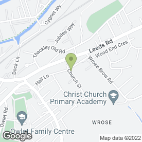Map of Windhill Green Medical Centre in Shipley, west yorkshire