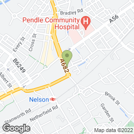 Map of Nelson Fitting Ltd in Nelson, lancashire