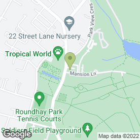 Map of Tropical World in Leeds, west yorkshire