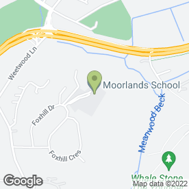 Map of Moorlands School Ltd in Leeds, west yorkshire