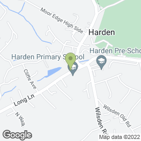 Map of Beautyden in Harden, Bingley, west yorkshire