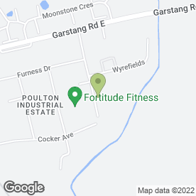 Map of Blackpool Service Centre, in Poulton-Le-Fylde, lancashire