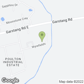 Map of Poulton Vans in Poulton Le Fylde, lancashire