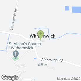 Map of R G Beevers in Withernwick, Hull, north humberside