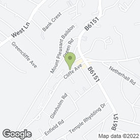 Map of Cliffe Avenue Surgery in Baildon, Shipley, west yorkshire