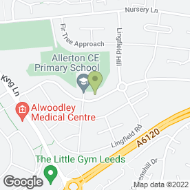 Map of Allerton C Of E Primary School in Leeds, west yorkshire