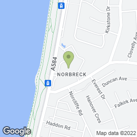 Map of Norbreck Castle Hotel in Blackpool, lancashire
