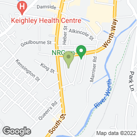 Map of Enterprise Rent-a-Car in Keighley, west yorkshire