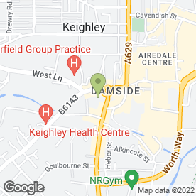 Map of Reg Thompson Cars in Keighley, west yorkshire
