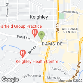 Map of Inspired Hair Design in Keighley, west yorkshire