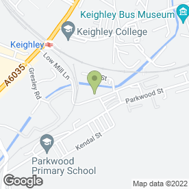 Map of Crabtree Print in Keighley, west yorkshire