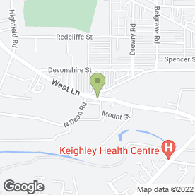 Map of Great Wall in Keighley, west yorkshire