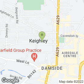 Map of Airedale Veterinary Group in West Yorkshire, west yorkshire