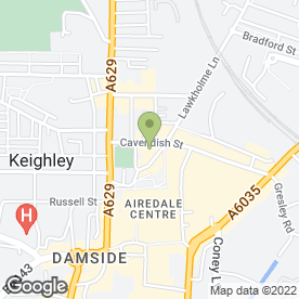 Map of Keighley & District Travel Ltd in Keighley, west yorkshire