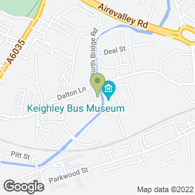 Map of CJ Motors in Keighley, west yorkshire