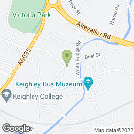 Map of O M G Vehicle Customs in Keighley, west yorkshire