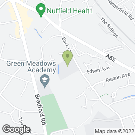 Map of Green Meadows School in Guiseley, Leeds, west yorkshire
