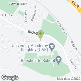 Map of Beechcliffe School in Keighley, west yorkshire