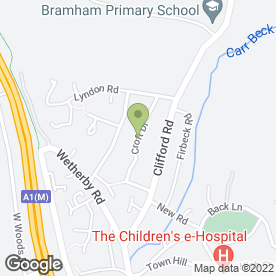 Map of PEGASUS SCHOOL OF MOTORING in Bramham, Wetherby, west yorkshire