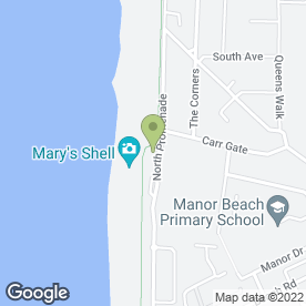 Map of The Venue in Thornton-Cleveleys, lancashire