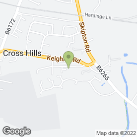 Map of Kingsway Vetrinary Group in Cross Hills, west yorkshire