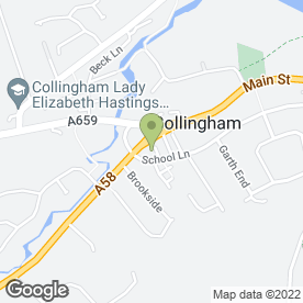 Map of Collingham Dental Care in Collingham, Wetherby, west yorkshire