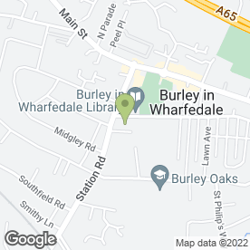Map of Grangepark Surgery in Burley In Wharfedale, Ilkley, west yorkshire