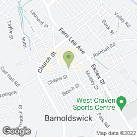 Map of Silhouette skincare and beauty centre in Barnoldswick, lancashire