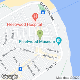 Map of Inghams in Fleetwood, lancashire