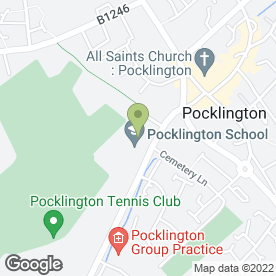 Map of Pocklington School in Pocklington, York, north yorkshire